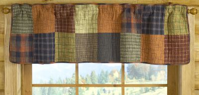 Entertainment This valance makes an impact on any bedroom with attractive colors and a unique layout of rectangles and squares. Machine wash cold. Tumble dry low or line dry. Imported.Dimensions: 16H x 56W. - $29.88