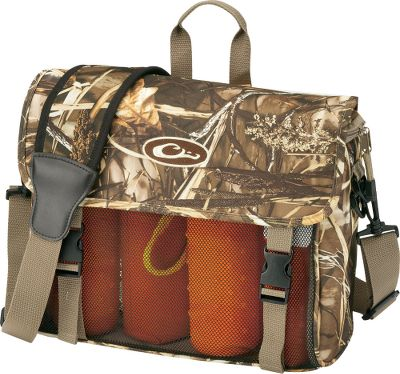 Hunting It carries 6-8 bumpers in organized dividers. Moisture-resistant, PVC-coated mesh sides prevent mildew. Hard plastic base. Zippered top. Neoprene shoulder strap. (Bumpers not included.) Imported.Camo pattern: Realtree MAX-4 . - $39.99
