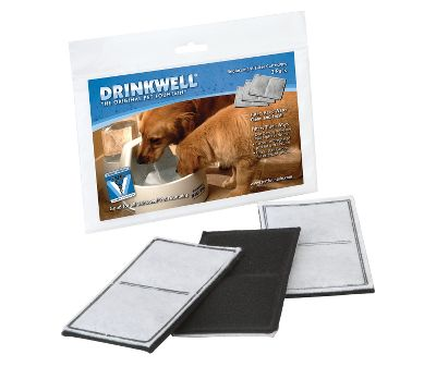 Hunting Make sure your dogs water supply is always clean and fresh. These replacement charcoal filters fit the Drinkwell Big Dog Fountain and removes impurities.Make sure your dogs water supply is always clean and fresh. These replacement charcoal filters fit the Drinkwell Big Dog Fountain and removes impurities. Per 3. Size: NEW. Color: Charcoal. Gender: Male. Age Group: Adult. - $7.99