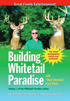 "Hunting Want to turn your favorite hunting spot into a ""Whitetail Paradise "" The complete Whitetail Paradise series from (volumes 1-5) is available in single money-saving package. This easy-to-follow and highly informative set covers a wide range of topics including food-plot development, habitat improvement, predator control as well as numerous hunting tips. Set includes: Building WhitetailParadise Vol. 1 A fast-paced overview of habitat projects, food plots, hunting tips and much more. 60 min. Building Whitetail Paradise Vol. 2 Learn what it really costs to install an effective food plot and witness the results with an amazing piebald buck hunt. 68 min.Building WhitetailParadise Vol. 3 Helpful info on spring planting of clover/alfalfa hunting plots and how to maintain them. 60+ min.Building WhitetailParadise Vol. 4A See first-hand the results of good habitat during the early and midseason. 60+ min. Building WhitetailParadise Vol. 4B See how habitat will hold deer on your ground during mid- to late-season. 60+ min. Building WhitetailParadise Vol. 5 Learn how coyotes impact your deer herd and how to lessen it. 60+ min. - $69.99"