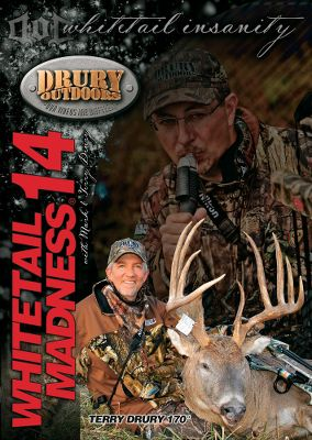 Hunting Relive the ups and downs as well as the highs and lows of whitetail hunting with Drury Outdoors Whitetail Madness DVD Series. Available: Whitetail Madness 16 Watch the madness behind game keeping. From the March shed hunt until the final hunts in January, see superstar hunters Jim Thome and Gary LeVox drop Boone and Crockett-worthy monsters. 150 minutes. DVD. Whitetail Madness 17 Follow the Drury Outdoors team through all kinds of weather and terrain in their pursuit of monster whitetails, including three Boone and Crockett bucks. 120 minutes. DVD. Whitetail Madness 18 Let your dreams run wild as 15 hunts unfold with five bucks killed that gross over the Boone Crocket minumum. 149 minutes. DVD. - $8.88