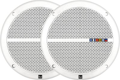 Entertainment Built with weather-resistant ABS construction, this pair of speakers will last. These 6.5, 60-watt speakers are encased in injection-molded polypropylene cones, held tight by poly-coated cloth surrounds and covered by integrated grills. Mounting depth of 2.24. Mounting hardware included. Imported. Colors: White, Black (not shown). - $39.99
