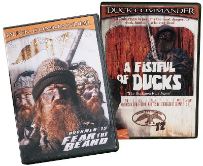 Hunting Witness hours of satisfying splashes as the Duckmen of Louisiana work mojo of doom on web-footed sky-streakers. Duck Commander 12 and 13 Combo delivers two hours of quack-silencing shots along with plenty of humor, fun and helpful tips as only the Duckmen can deliver them. 120 min. - $31.98