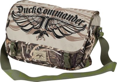 Hunting Emblazoned with a stylish mix of Duck Commander graphics and camouflage, this signature shoulder bag keeps gear organized in multiple pockets while proudly displaying your Duck Commander loyalty. Rugged, 600-denier polyester canvas gives the bag a rough-and-ready look, while the exterior shell dispenser gets you loaded and ready quickly. Imported.Dimensions: 12H x 17W x 6D. Camo pattern: Realtree MAX-4 . - $24.99