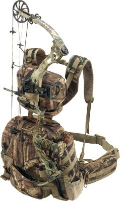 Hunting Merges the best attributes of a lumbar pack and a backpack. It conveniently holds your bow or rifle and allows easy access to either without removing the pack using the Ripcord Bowtether. The adjustable ButtBucket kit secures the bow or rifle in either high or low positions. The 300-cu.-in. removable top pack adds to the storage capacity and serves as a spacer to keep your weapon within easy reach. The Tailhook name comes from the innovative main flap, which flips up and wraps around a tree perfect for treestand hunting. Multiple interior and exterior pockets. Hydration compatible. 1,900-cu.-in. storage capacity. Imported.Weight: 5 lbs.Camp patterns: Mossy Oak Break-Up Infinity, Realtree MAX-1. Type: Hunting Packs. Color Mo Break Up Infinity. - $179.88