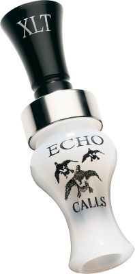 Hunting Echos XLT Acrylic Timber Duck Call is specially built to produce ringing hail calls for big-water hunts, but is also capable of getting soft and nasty to put the finishing touches on a flock of hard-to-work mallards. Available: Bocote, Pearl Black Acrylic, Black Acrylic. Color: Timber. - $97.88
