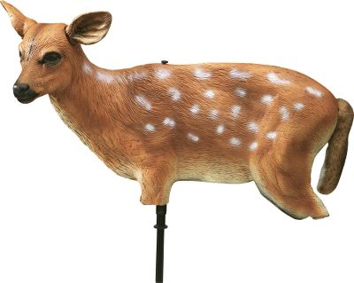 Hunting A lost fawn is an easy meal for hungry predators. Realistic, wind-activated body and tail bring them in close. To simulate a bedded fawn, use without stake. Flexible for transport. - $24.88