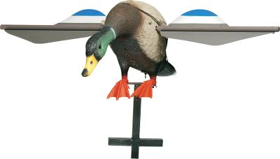 Hunting Add unmatched realism and lifelike detail to your decoy spread with the wing-flapping motion of the Super Lucky Duck. This unique, highly effective decoy boasts an advanced body style that accurately simulates a duck in the landing position. Reliable direct-drive system ensures years of problem-free service. Wings easily detach for transport and storage. Sturdy three-piece stake and battery charger included with every Super Lucky Duck. Operates on a 6-volt rechargeable battery (included).Available: Drake. - $129.99