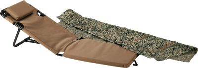 "Hunting Portability and lightweight design are combined with comfort and superb concealment in this easy-to-use waterfowl blind. Built-in back straps let you take it anywhere. There are no loose parts. No assembly is required. Collapsible blind sets up in seconds. A padded seat gives you all-day comfort and is supported by 1""-diameter powder-coated steel tubing. Concealment provided by quick-throw-back M2D Camo cover.Weight: 9.5 lbs. - $109.88"