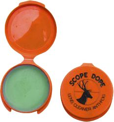 Hunting Get your sights set clearly on the target with EK's Scope Dope! The mild ingredients in Scope Dope are safe on all lenses and coatings. Simply apply the cleaner with a soft cloth and wipe it off, leaving a clear film that prevents fogging, cleans the lens and even fills small scratches. The amazing product is safe for hundreds of applications, on all types of lenses, including binoculars and eyewear. Comes in a convenient .25-oz. size with a flip top lid. Type: Scope Dope. - $2.88
