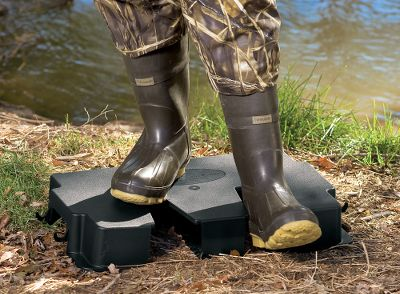 Fishing Portable, easy-to-use platform helps pull muddy boots off, so feet stay clean and dry. Or, mount it on a wall and it becomes a boot hanging/ventilation station. Includes mounting hardware. Holds up to 300 lbs. Made in USA. - $29.88