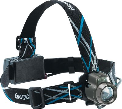 Camp and Hike Water-resistant headlamp has a bright-white LED that produces a 100-lumen beam that extends visible light out to 95 ft. The boost mode pushes output up to 130 lumens for 15 seconds. Use the focusing mode to adjust beam from tight to wide. Five lighting modes include: white (high, medium, low); red for nightvision; and strobe. Green blinking find me or follow me LED. Comfortable 1 nylon strap. Powered by three AA batteries (included) for up to 10 hours. - $36.99