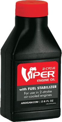 Fishing Engine oil with fuel stabilizer blended for use with two-stroke, air-cooled engines. Safer for the operator and environment, the oil helps reduce exhaust smoke by maintaining a cleaner fuel system. Eliminates the need to drain fuel at the end of the season. Size: 2.6-oz. bottle. Color: Smoke. Type: Auger Accessories. - $2.49