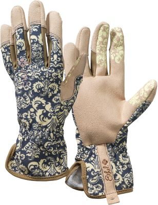 A creamy flowery pattern complements the tan palms and fingertips for an eye-catching look. The backs of hands are a two-way-stretch synthetic material that is breathable to keep hands cool and dry. Synthetic suede covers the palms and fingertips to add durability, and a rubberized grip enhances your grasping ability. Extended cuffs add wrist protection. Machine washable. Imported.Sizes: S-XL.Colors: Jubilee, Rendezvous. - $12.88