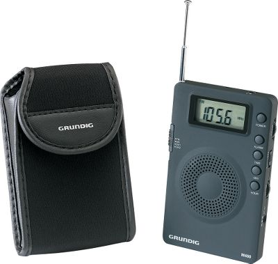 "Super-compact AM/FM shortwave radio. Analog tuner with digital display. Shows frequency, time sleep time and symbols. Clock and alarm function. Telescoping antenna for AM/FM reception. 1 lb.Dimensions: 2.75"" x 4.33"" x .472"". - $24.88"