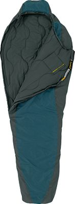 Camp and Hike This ultralight bag features a single layer of quilt construction and a floating shell. Features a fully adjustable contoured hood. Premium Rteq insulation for the ultimate in thermal performance. Rteq is up to 40% lighter than other fills and 20% more efficient at the fiber level, delivering outstanding compactness and durability. This mummy bag also features a differential cut with the inner layer of the bag cut smaller than the outer layer to create consistent insulation thickness throughout the bag. This prevents thermal leaks from forming, keeping warm air inside and cold air outside. Tough, 230T Star Gaze polyester ripstop shell and 210T polyester taffeta liner. Fully adjustable contoured hood snugs around your head with a simple pull of a drawcord. The ergonomic trapezoidal footbox is designed specifically for the natural forward and outward tilting of your feet. Space-saving compression sack keeps bag protected. No. 5 self-repairing zippers. Imported. - $69.88
