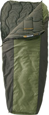 Camp and Hike Equipped with DualTemp technology, you can choose to sleep with a thick, warming layer of premium Rteq insulation on top for superb warmth in colder conditions, or flip this versatile sleeping bag over and its other sides thinner layer of insulation keeps you cozy in moderate outdoor temperatures. Its durable, 66-denier shell is crafted of diamond matrix polyester ripstop and polyester taffeta. The quilted lining is made of soft-to-the-touch 75-denier peached polyester. Its full-length draft tube, draft collar, top drawcord and trapezoidal footbox construction team together for seasons of draft-free, warmth-trapping performance. YKK No. 5 zipper features an anti-snag stitchguard. Internal pocket and hang loops. Includes stuff sack. Imported. Gender: Unisex. Type: Rectangle Sleeping Bags. - $99.99