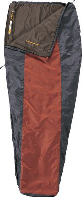 Camp and Hike Exclusive to Cabelas, the Hoback Sleeping Bag boasts an ultralight minimalistic design thats perfect for the summertime backpacker. Its unique rectangular design has a tapered lower section to reduce weight, and its snug contoured top reduces heat loss. The durable shell is 66-denier polyester and its 75-denier liner is a peached polyester that boasts a fuzzy, warm-to-the-touch feeling that adds extra comfort in any condition. Ergonomically placed internal pocket with a hook-and-loop closure keeps essentials close at night. Two-way, self-repairing, No. 5 YKK zipper. Includes compression sack. Imported. Temperature Rating: +60. - $39.88