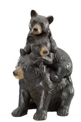Camp and Hike Welcome family, neighbors and friends into your garden, yard or patio with these playful bears. The statue is made of durable resin and features a realistic, hand-carved look. Imported.Dimensions: 10.63L x 19W x 14.57H.Weight: 6.61 lbs. Type: Outdoor Statuary. - $14.88