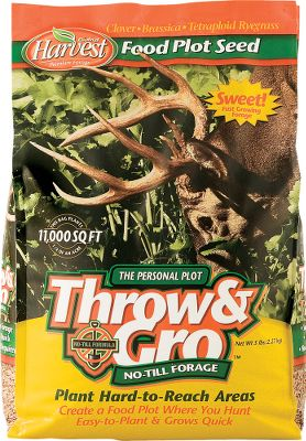 Hunting There's no disking involved so you can plant in areas that are not accessible to heavy equipment. Contains a mixture of tetraploid ryegrass, forage clover and brassica. Available: 5 lbs. plants 1/4 acre. - $8.29