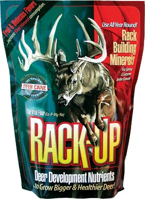 Hunting Start growing bigger racks in your local herd. This blend of calcium, phosphorous, magnesium and other minerals is irresistible to deer. Weight: 6 lbs. - $9.99