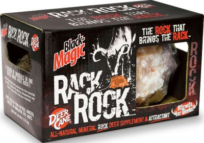 Hunting Both a mineral rock supplement and powerful attractant, the Rack Rock delivers a vital mineral blend of calcium, phosphorus, magnesium and sodium. Assists whitetails in bone and antler growth, muscle development, digestion and reproduction. Size: 6-lb. block. - $12.99