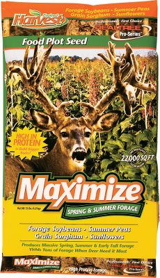 Hunting Harness the fawn-nurturing and antler-growing power of this high-protein forage mix. A versatile combination of forage soybeans, summer peas, grain sorghum and sunflowers for summer-through-fall forage opportunities. Plant mid-spring to early summer. 15-lb bag plants 1/2 acre. - $27.99