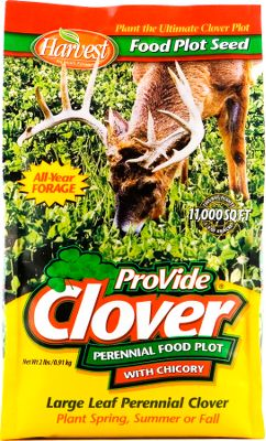 Hunting A premium blend of forage clovers developed for deer with the added bonus of chicory, creating the ultimate perennial clover food-plot mix. Can be planted throughout the spring, late summer and fall in most areas of the U.S.Available: 2 lbs. plants 1/4 acre - $14.88