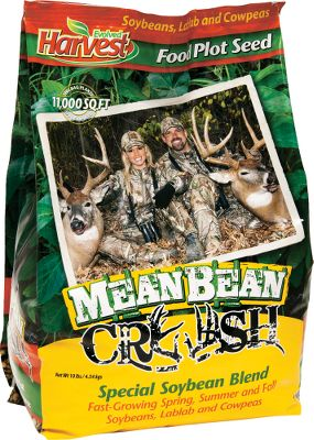 Hunting Enhance your habitat with an Evolved Harvest food plot and in a short time youll see why its the hands-down choice for some of todays biggest names in deer hunting. Mean Bean Crush is a proprietary food-plot mix of lablab, ebony cow peas and the special Hinson forage soybeans. When not allowed to flower, Hinson soybeans will produce tons of forage from late spring into fall. Evolved is dedicated to enhancing the overall experience of pros and weekend hunters alike. With the help and support of avid hunters like you, Evolved Harvest continues to research and create new and innovative products that will improve the quality of your deer herd and your success during hunting season. Available: 10 lb. bag plants 11,000 sq. ft. - $21.99