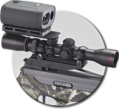 Hunting Mount your rangefinder above your scope for split-second readings of your target range. Mount attaches to scope tube using an inverted Weaver-style ring (not included). Mounting rail is located on bottom of mount. Rangefinder (not included) attaches to the mount with included Velcro . This mount is recommended for use with crossbows and rimfire rifles only. - $24.88