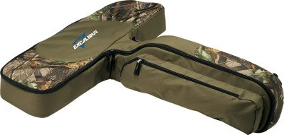 Hunting An inexpensive, lightweight and portable option to a bulky solid case. It securely holds and protects your Excalibur crossbow in its semi-rigid foam-lined interior. Handy pockets hold a full quiver and accessories. Color: Camo. Type: Crossbow Cases. - $84.99