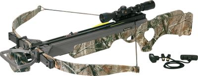 Hunting If you like blistering speed and flat bolt flight in a compact crossbow the Vortex is your choice. With a draw weight of 200 lbs, it launches bolts at 330 fps, with its cutting-edge design for unparalleled performance. Anchored by a thumbhole stock, its finished with the Realtree AP HD camo pattern using Kolorfusion for added realism and a life-long finish. Comes with a VCB 2.4X32 scope. Drilled and tapped to accept scope and quiver mounts. 15-1/2 power stroke. Power stroke: 15-1/2.Draw weight: 200 lbs.Length: 37-1/2.Weight: 6.3 lbs.Camo pattern: Realtree AP. Package includes: Varizone multiplex crossbow scope, mounting rings and base, four Firebolt 20 carbon bolts with field points, four-bolt quiver, mounting bracket and rope cocking aid. Type: Crossbows. Type: Crossbows. IBO Speed (fps): 326-350. - $599.88