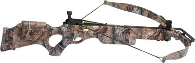 Hunting The Equinox crossbow is the crown jewel of the Excalibur line. Its fast, powerful and stunning. The Equinox combines a 225-lb. draw weight with a blazing 350 fps making it ready to take down anything in the field. An ergonomically-designed thumbhole stock makes the bow look impressive. Its not just a pretty face. Built and designed with a reduced overall length that makes the bow easier to cock and hold steady, without sacrificing downrange performance. Cloaked in a total coat of Realtree AP thats fused with the Kolorfusion process for an impenetrable, life-long finish and added realism. You can take careful aim using the form-fitting ambidextrous cheekpiece. Comes with a peep sight thats fully adjustable for windage and elevation. Power stroke: 16-1/2. Stock length: 38-1/2. Weight: 6.5 lbs. Bolt length: 20. Camo pattern: Realtree AP. Type: Crossbows. Type: Crossbows. IBO Speed (fps): 326-350. - $499.88