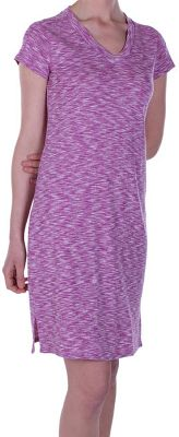 Pleasingly soft, cozy and cute, this dress is loaded with features youll love as much as the way it feels. Its crafted of dri-release Chica Cool 85/15 polyester/cotton with Freshguard to resist odors. The material is moisture-wicking and fast-drying. Flatlock stitching teams with a tagless neck label and forward-facing shoulder seams to eliminate rubbing against your skin. A side slit enhances mobility. Two on-seam pockets. Machine washable. Imported.Length: 38.Sizes: S-XL.Color: Raspberry. - $34.88