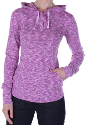 Practical and pretty, this unique space-dyed hoodie will become your favorite layer no matter what adventure youre on. Vastly versatile fabric wicks moisture, fights odor and guards against the suns rays. Skin-pleasing Dri-Release Chica Cool 85/15 polyester/cotton rib-knit stretchfabric is moisture-wicking, fast-drying and treated with Freshguard for odor resistance. Sun Guard UPF rating of 20+ adds protection from the sun. Flatlock stitching and a tagless label team with critical seams moved off the shoulders to prevent rubbing. Adjustable hood with drawstring. Shaped front hand pockets. Thumb loops keep sleeves from riding up. 26-1/2 center back length. Machine washable. Imported.Sizes: S-XL.Colors: Light Seaglass, Azure, Raspberry. - $34.88
