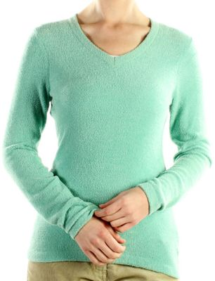 Wrap yourself in butter-soft chenille feather fleece, a cozy thermal fabric that's fashionable and functional. This quick-drying, lightweight V-neck is also wrinkle-resistant for first-rate travel performance. 100% nylon. Imported. Sizes: S-XL. Colors: Black, Seaglass, Rainier, Wine. - $29.88