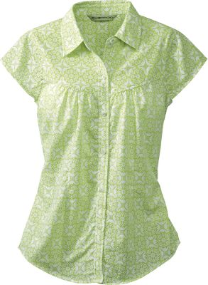 Golf Lightweight, wrinkle-resistant and ventilated for travel friendliness, this top's quick-drying fabric will keep you feeling cool and comfortable. The 86/14 polyester/cotton blend weighs next to nothing and makes the Hanja ideal for everything from golf to urban explorations. Cap sleeves with darts add a fun, feminine shape. Machine washable. Imported.Sizes: S-XL.Colors: White, Hibiscus, Azure, Light Aloe. - $29.88