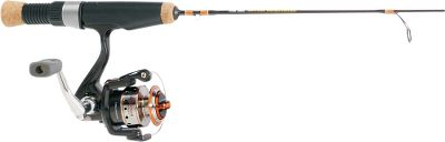 Fishing The Classic Series features the traditional aspects of a quality ice-fishing combination. Traditional three-ball-bearing, cold-weather-designed (-40) spinning reel is 100% solid. The custom hand-ground graphite blank has PacBay guides with a slim-line graphite reel seat, stainless steel reel hood with cork fore grip and butt cap. Specific actions and tapers. - $19.88