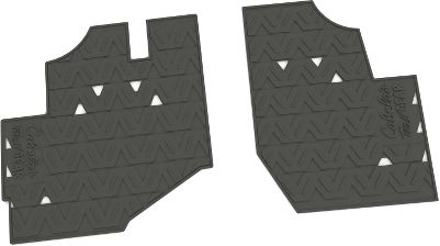 A natural rubber floor mat with contours to fit your UTV's floor like a glove. Resistant to UV and ozone, this pliable mat will not crack due to temperature extremes, and it's scuff-resistant. Easy to remove and clean. Ribs for scraping dirt and debris off shoes. Raised borders around the edge of the mat helps to contain water and debris. Anti-slip bottom ensures a stable surface. Custom-molded, custom-fitted design makes for easy installation. No tools needed for assembly. Color: Natural. Type: UTV Floor Mats. - $24.88