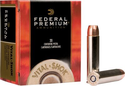 Hunting Loaded with world-renowned Swift A-Frame bullets and top-quality components, Vital-Shok is premium hunting ammunition for handgunners. Bonded-lead hollow-point A-Frame bullets deliver reliable, 95% weight retention, controlled expansion and deep penetration on the biggest, toughest game. Made in USA. Per 20-round box. - $34.99