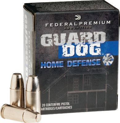 Entertainment A step beyond traditional home-defense hollow points. The polymer-filled, FMJ-style bullets will not plug with barrier material, enabling them to deliver reliable, devastating expansion and minimal penetration through interior walls. Per 20. Bullet Weight: 105 Grain. Number of Rounds: 20. Caliber: 9 mm. Bullet Type: Guard Dog-FMJ. Cal/Gaug 9mm 105gr Fmj. - $20.88
