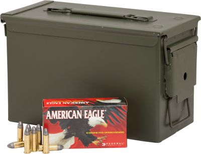 Rely on top-notch performance from affordable ammo specifically engineered to meet the needs of high-volume shooters. Reliable and accurate, these American Eagle loads feature new-manufacture reloadable boxer-primed brass cases, clean-burning powders and 158-grain Lead Round Nose bullets. Each lot comes packaged in a mil-spec metal ammo can, a $20 value, perfect for long-term ammo storage, organization and transportation to the range. Per 400. Made in USA. Type: Centerfire Handgun. - $209.99