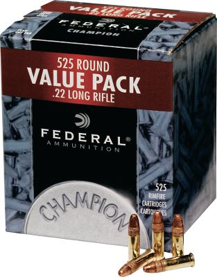 Hunting Its called a Value Pack for good reason a large quantity of quality ammunition for an affordable price. Loaded with 36-grain copper-plated hollow-point bullets, it delivers muzzle velocities up to 1,260 fps. The bullet expands rapidly on impact, making it ideal for small-game hunting. Value-conscious, high-volume shooters will appreciate the performance this ammunition delivers. Per 525. - $21.99