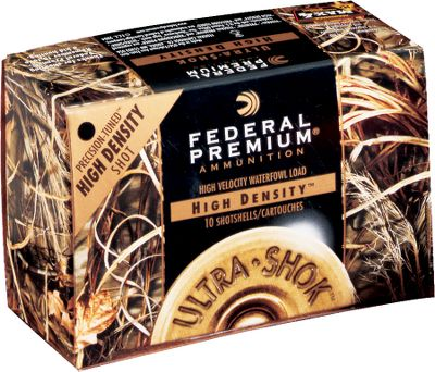 These shells from Federal have up to 20% more soft tungsten-iron pellets than comparable steel shot loads. Pellets are also 20% softer than steel with 15% lower wind drift. Uniform pellet size means consistent, tight patterns. 10 shells per box. - $32.88