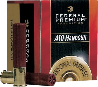 Hunting These hard-hitting .410 loads maximize the performance of Taurus Judge revolver. Penetrating 850-fps velocity from four-pellet 000 buck or a dense-patterning payload of No. 4s at 950-fps velocity. The 000 buckshot penetrated 15 of ballistic gel when fired at a range of 5 yards. Per 20. Made in USA. Type: Centerfire Handgun. - $15.99