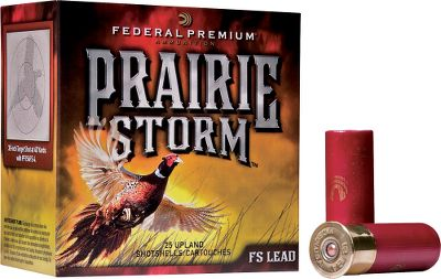 Hunting Prairie Storm lead brings all-new performance to pheasant hunters. The proven Flitecontrol wad combines with Flitestopper (FS) lead to get patterns never seen before on the plains. 70% Premium copper-plated lead shot and 30% nickel-plated cut-on-contact FS lead pellets offer better down-range performance with lethal results. The loads produce full, consistent patterns and more pellets on target with less choke constriction. Tests have produced patterns of 75% in a 30 circle at 40 yards, so youll have fewer missed birds. Sold per case: 10 boxes per case, 25 rounds per box. Type: Lead. - $184.99