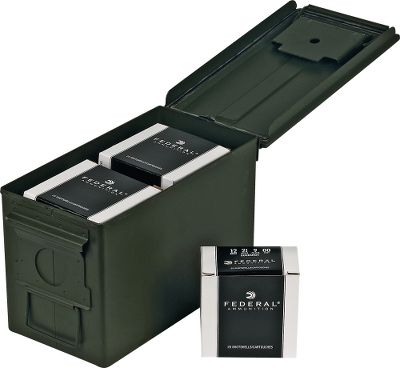 Guns and Military Bulk 12-Gauge buckshot loaded to law-enforcement specifications with nine pellets of 00 buckshot in a 2-3/4 shell. Stock up now on this great value. Includes new mil-spec metal ammo can ($20 value.) 175 rounds. Type: Lead. - $119.88