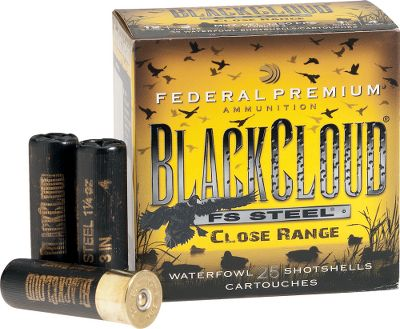 Hunting When youre hiding in the timber, pit or weeds and your decoy spread is just a few yards away, ducks can appear suddenly from any direction. Be ready for those close-in target engagements with ammunition specifically made for such situations. Packed with lethal Flitestopper Steel pellets, these shells are engineered to deliver optimal patterns at 20 to 30 yards by opening the shot spread more quickly that other loads. No more worries about your pattern being too tight when the birds are in your face. These loads feature pellets with special cutting rims that cause them to cut and tumble inside a hit duck, increasing lethality, increasing quick and humane kills and resulting in fewer cripples. 25 shells per box. Color: Black. Type: Steel. - $16.99
