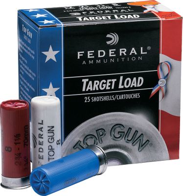 Guns and Military Support Wounded Warriors with these limited-edition red, white and blue Federal Top Gun target loads. Fedral will donate a portion of the proceeds from the sale of these loads to Wounded Warriors. Only available in 12-ga., 2-3/4 1-1/8oz. No.8 shot, these shells feature clean-burning powder, eight segment crimps and hard, high-quality shot. 25 shells per box, 10 boxes per case. Sold per case. Made in USA. Color: White. - $69.99