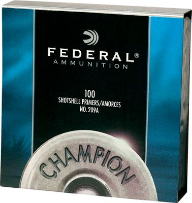 Hunting Federal No. 209A Shotshell Primers are non-corrosive, all weather primers that deliver fast, dependable ignition under any shooting situation. Perfect for trap shooting, hunting or with your favorite muzzleloader. Like all Federal products, consistent quality is their namesake. Per 1,000. Type: Shotshell Primers. - $31.99